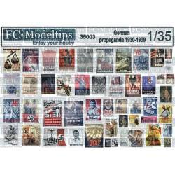 German propaganda posters 1930-1939. FCMODELTIPS 35303