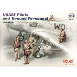 USAAF pilots and ground personnel. ICM 48083