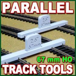 Guía para vías paralelas.