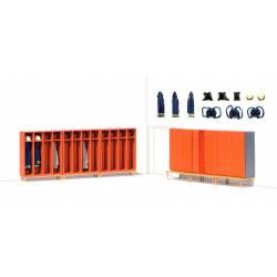 Fireman's lockers. PREISER 17708
