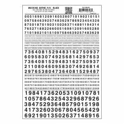 Transferibles: números negros. WOODLAND MG726