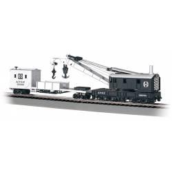 Grúa con vagón de apoyo. BACHMANN 16102