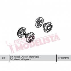 Wheel set for locomitves 7800 RENFE. ELECTROTREN ER3024/28