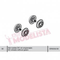 Wheel set for locomitves 278 RENFE. ELECTROTREN ER3030/30