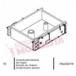 Underframe details for locomotives series 321. ARNOLD HN2242/19