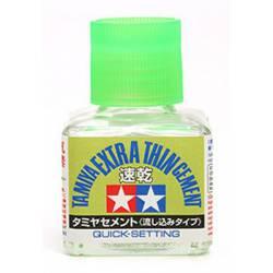 Pegamento extra líquido, secado rápido. TAMIYA 87182