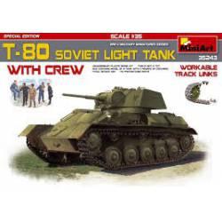 T-80 soviet light tank.