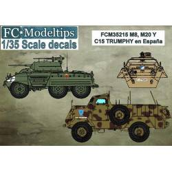 Decal set: M8, M20 and Trumphy in Spain. FCMODELTIPS 35215