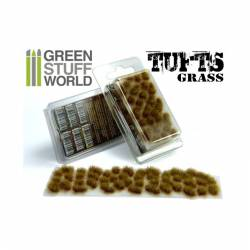 Grass tufts, dry brown. 6 mm. GREEN STUFF WORLD 362486