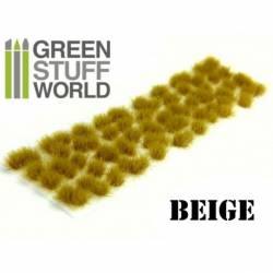 Grass tufts, beige. 6 mm. GREEN STUFF WORLD