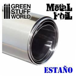 Flexible metal foil - Tin/Pewter GREEN STUFF 367450