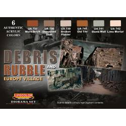 """Debris and rubble"" color set. LIFECOLOR CS31"