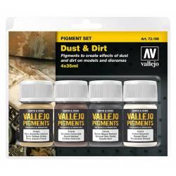 Set de pigmentos: Polvo y suciedad. VALLEJO 73190