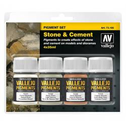 Set de pigmentos: piedra y cemento. VALLEJO 73192