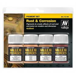 Set de pigmentos: óxido y corrosión.