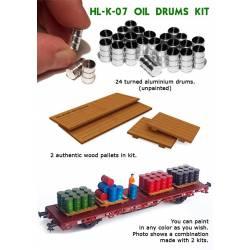 Oil drums.