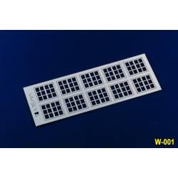 Ventanas, 18x16 mm. PROSES W001