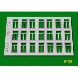 Windows, 9,5x15 mm.