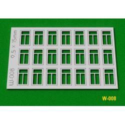 Ventanas, 9,5x15 mm. PROSES W008