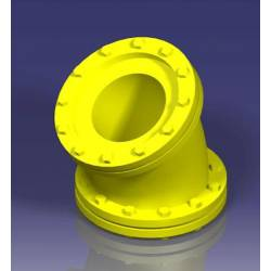Tubería industrial: codo 30º, 6,5 mm. JOSWOOD 41051
