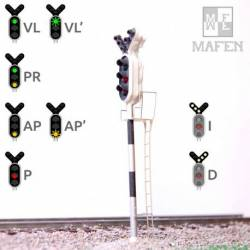 Railway light signal - 3 aspects. MAFEN 913.05