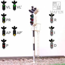 Railway light signal - 3 aspects. MAFEN 913.06