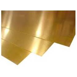 Plancha de bronce. 0,5 mm. 200 x 150 mm. HIRSCH 95050