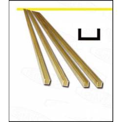 Brass profile U. 2,5 x 1,5 mm.