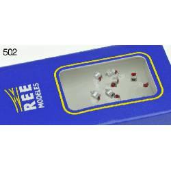 Set de luces de cola (x6). REE MODELES XB-502