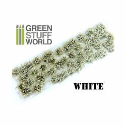Shrub tufts, white. 6 mm. GREEN STUFF WORLD 363070