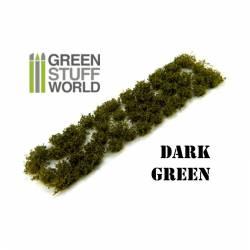 Shrub tufts, dark green. 6 mm. GREEN STUFF WORLD 363063