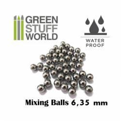 Mixing balls, 6,35 mm.