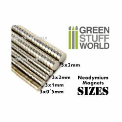 Neodymium magnets 3x2mm. GREEN STUFF