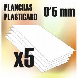 Plasticard A4 - 0,5mm.