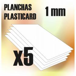 Plasticard A4 - 1mm. GREEN STUFF WORLD 9106
