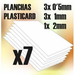 Plasticard A4 - 0.5, 1 and 2mm. GREEN STUFF WORLD 366095