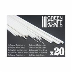 Variety pack Plasticard. GREEN STUFF WORLD 9128