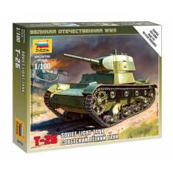 Soviet tank T-26. ZVEZDA 6113