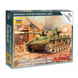 Lanzallamas alemán Panzer III. ZVEZDA 6162