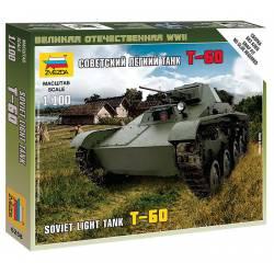 T-60 soviet light tank. ZVEZDA 6258