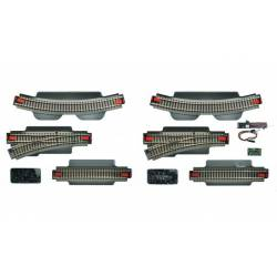 Extension track set for Digital Starter Set. ROCO 51250