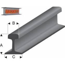 Perfil de estireno: raíl. MAQUETT 460-51/3