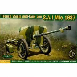 Cañón anticarro francés 25mm. S.A.I. Mle 1937.
