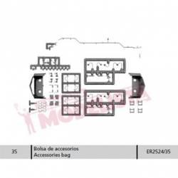 Accesories bag for RENFE 252. ER2524/35