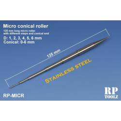 Micro conical roller.