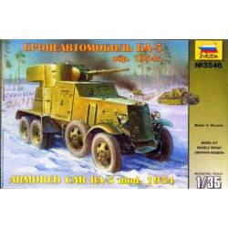 Blindado soviético BA-3.