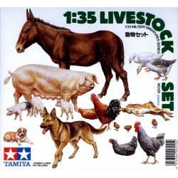 Livestock set. TAMIYA 35128