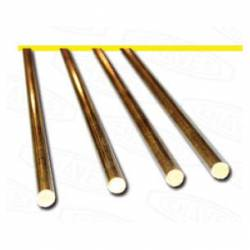 Round brass profile. 2,2 mm. HIRSCH 7622