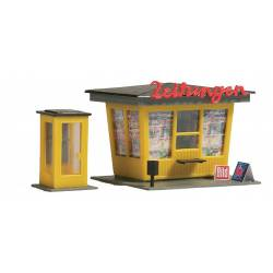 Newspaper stand with telephone booth. AUHAGEN 12340