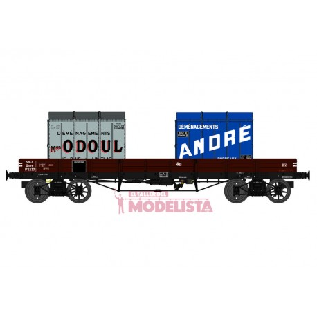 Flat wagon TP with load, SNCF. REE MODELES WB-427